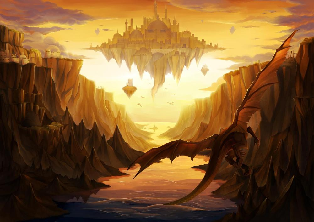 dragon_castle_island_fantasy_hd-wallpaper-417933